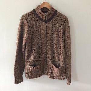 WOOLRICH zip up sweater